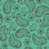 Paisley seamless texture Royalty Free Stock Photos