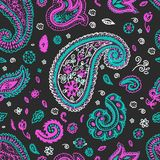 Paisley seamless vector pattern background Royalty Free Stock Photography