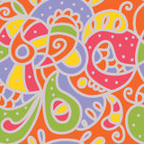 Paisley seamless whimsical pattern Stock Image