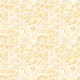 Paisley seamless yellow mehndi pattern Royalty Free Stock Photography