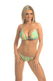 Paisley Sequin Bikini Blonde Royalty Free Stock Image