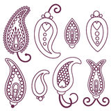 Paisley set Stock Image