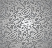 Paisley silver wallpaper Stock Photography