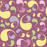 Paisley simple colorful  seamless pattern and seamless pattern i Stock Photography