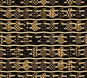 Paisley simply shape gold chevron symmetry seamless pattern Stock Illustration