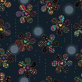 Paisley simply shape rotate moon rain drop seamless pattern Stock Illustration