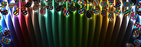 Paisley simply shape top line banner RGB Royalty Free Illustration
