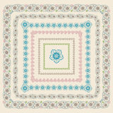 Paisley square frame set .Vector Oriental motif Royalty Free Stock Photos