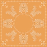 Paisley square pattern Stock Images