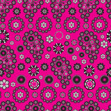 Paisley stile pattern on pink background Royalty Free Stock Image