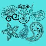 Paisley and swirls decoration element stock illustration