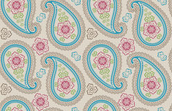 Paisley tkaniny bezszwowy wzór Royalty Ilustracja