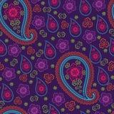 Paisley tkaniny wektoru bezszwowy wzór Ilustracji
