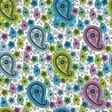 Paisley tkaniny wektoru bezszwowy wzór. Cool kolor Obrazy Royalty Free