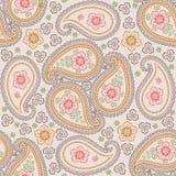 Paisley tkaniny wektoru bezszwowy wzór. Retro Royalty Ilustracja