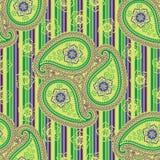 Paisley tkaniny wektoru bezszwowy wzór. Ukierunkowywa orn Ilustracji
