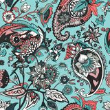 Paisley. Traditional oriental pattern in modern execution. Seamless pattern. Stock Photography