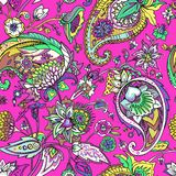 Paisley. Traditional oriental pattern in modern execution. Seamless pattern. Royalty Free Stock Image