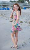 Paisley type dress on the beach Stock Image