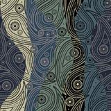Paisley van golven patroon royalty-vrije illustratie