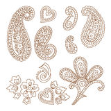 Paisley vector patterns Stock Photos