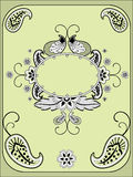 Paisley Vintage frame Royalty Free Stock Photography