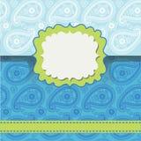 Paisley wszy. Projekta szablon, odkrywa lub grępluje Royalty Ilustracja