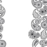 paisley yttersida royaltyfri illustrationer