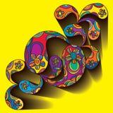 Paisley shirt draw. Illustration Paisley modern shirt graphic draw yellow background element vector illustration