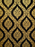 paiting золота искусства тайский Стоковое Изображение