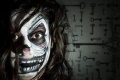Paiting Clowngesicht Lizenzfreies Stockfoto