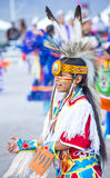 Paiute Tribe Pow Wow. LAS VEGAS - MAY 24 : Native American boy takes part at the 25th Annual Paiute Tribe Pow Wow on May 24 , 2014 in Las Vegas Nevada. Pow wow stock image