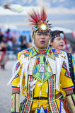 Paiute Tribe Pow Wow. LAS VEGAS - MAY 24 : Native American boy takes part at the 25th Annual Paiute Tribe Pow Wow on May 24 , 2014 in Las Vegas Nevada. Pow wow stock images