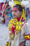 Paiute Tribe Pow Wow. LAS VEGAS - MAY 24 : Native American boy takes part at the 25th Annual Paiute Tribe Pow Wow on May 24 , 2014 in Las Vegas Nevada. Pow wow royalty free stock image