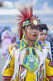 Paiute Tribe Pow Wow. LAS VEGAS - MAY 24 : Native American boy takes part at the 25th Annual Paiute Tribe Pow Wow on May 24 , 2014 in Las Vegas Nevada. Pow wow royalty free stock photos