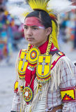 Paiute Tribe Pow Wow. LAS VEGAS - MAY 24 : Native American boy takes part at the 25th Annual Paiute Tribe Pow Wow on May 24 , 2014 in Las Vegas Nevada. Pow wow stock photography