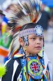 Paiute Tribe Pow Wow. LAS VEGAS - MAY 24 : Native American boy takes part at the 25th Annual Paiute Tribe Pow Wow on May 24 , 2014 in Las Vegas Nevada. Pow wow royalty free stock image