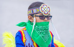 Paiute Tribe Pow Wow. LAS VEGAS - MAY 24 : Native American boy takes part at the 26th Annual Paiute Tribe Pow Wow on May 24 , 2015 in Las Vegas Nevada. Pow wow stock photo