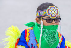Paiute Tribe Pow Wow. LAS VEGAS - MAY 24 : Native American boy takes part at the 26th Annual Paiute Tribe Pow Wow on May 24 , 2015 in Las Vegas Nevada. Pow wow stock photos