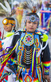 Paiute Tribe Pow Wow. LAS VEGAS - MAY 24 : Native American boys takes part at the 25th Annual Paiute Tribe Pow Wow on May 24 , 2014 in Las Vegas Nevada. Pow wow royalty free stock photography