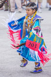 Paiute Tribe Pow Wow. LAS VEGAS - MAY 24 : Native American girl takes part at the 26th Annual Paiute Tribe Pow Wow on May 24 , 2015 in Las Vegas Nevada. Pow wow stock image