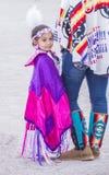 Paiute Tribe Pow Wow. LAS VEGAS - MAY 24 : Native American girl takes part at the 26th Annual Paiute Tribe Pow Wow on May 24 , 2015 in Las Vegas Nevada. Pow wow royalty free stock photo