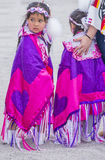 Paiute Tribe Pow Wow. LAS VEGAS - MAY 24 : Native American girls takes part at the 26th Annual Paiute Tribe Pow Wow on May 24 , 2015 in Las Vegas Nevada. Pow wow stock photography