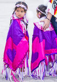Paiute Tribe Pow Wow. LAS VEGAS - MAY 24 : Native American girls takes part at the 26th Annual Paiute Tribe Pow Wow on May 24 , 2015 in Las Vegas Nevada. Pow wow royalty free stock photography