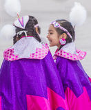Paiute Tribe Pow Wow. LAS VEGAS - MAY 24 : Native American girls takes part at the 26th Annual Paiute Tribe Pow Wow on May 24 , 2015 in Las Vegas Nevada. Pow wow stock images