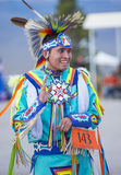 Paiute Tribe Pow Wow. LAS VEGAS - MAY 24 : Native American man takes part at the 25th Annual Paiute Tribe Pow Wow on May 24 , 2014 in Las Vegas Nevada. Pow wow royalty free stock photography
