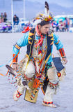 Paiute Tribe Pow Wow. LAS VEGAS - MAY 24 : Native American man takes part at the 25th Annual Paiute Tribe Pow Wow on May 24 , 2014 in Las Vegas Nevada. Pow wow stock photo