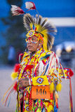 Paiute Tribe Pow Wow. LAS VEGAS - MAY 24 : Native American man takes part at the 25th Annual Paiute Tribe Pow Wow on May 24 , 2014 in Las Vegas Nevada. Pow wow royalty free stock image