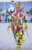 Paiute Tribe Pow Wow. LAS VEGAS - MAY 24 : Native American man takes part at the 25th Annual Paiute Tribe Pow Wow on May 24 , 2014 in Las Vegas Nevada. Pow wow royalty free stock photos