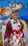Paiute Tribe Pow Wow. LAS VEGAS - MAY 24 : Native American man takes part at the 25th Annual Paiute Tribe Pow Wow on May 24 , 2014 in Las Vegas Nevada. Pow wow royalty free stock image
